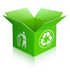 recycled box vector image vector image