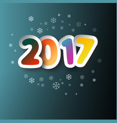 2017 colorful paper cut two thousand seventeen vector
