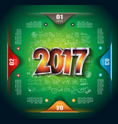2017 new year infographic and business plan vector