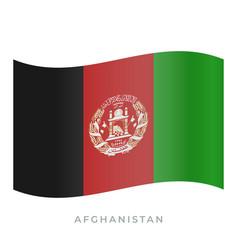 Afghanistan waving flag icon vector