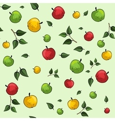 Apple seamless pattern vector image