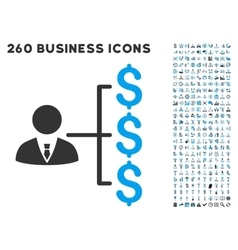 Banker Payments Icon with Flat Set vector image