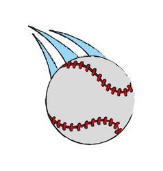 baseball ball icon image vector image vector image