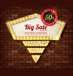 Big discount frame vector