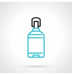 Blue line plastic bottle icon vector image