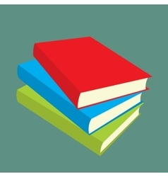 Books flat icons vector