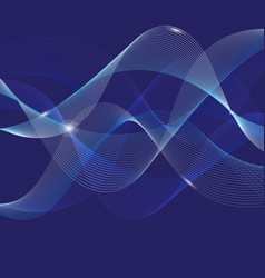 bright background abstract beautiful waves vector image
