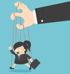 Business Woman marionette vector