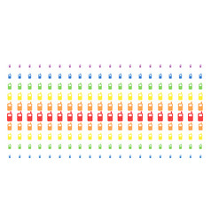 cell phone shape halftone spectral array vector image