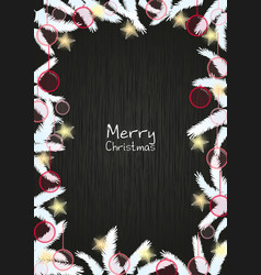 christmas decoration on blackboard vector image