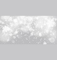 christmas snowfall falling christmas vector image