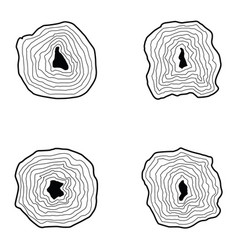 Collection of tree rings vector