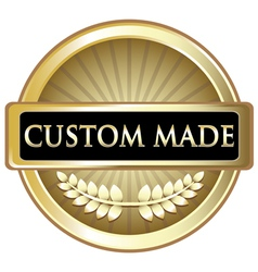 Custom Made Gold Label vector image