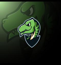 cute dinosaur mascot logo vector image