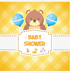 decoration bashower card vector image
