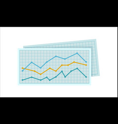 Diagram on squared paper vector