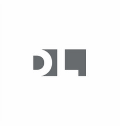 Dl logo monogram with negative space style design vector