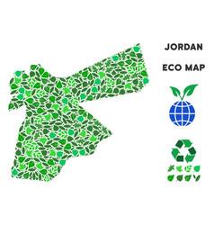 Ecology green collage jordan map vector