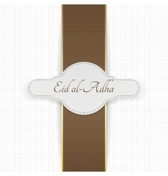 Eid al-Adha realistic greeting Label vector