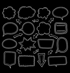 empty dialogue clouds vector image