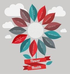 Flower healtf logo vector