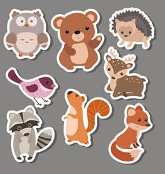 Forest animal stickers forest animal stickers vector