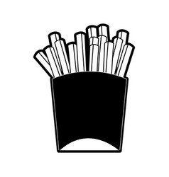 french fries fast food icon image vector image
