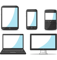 Gadget Smart Phone Tablet Laptop and Computer vector