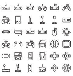 Games device outline vector
