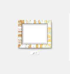 golden marble frame isolated on white background vector image