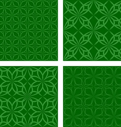 Green seamless pattern background set vector image