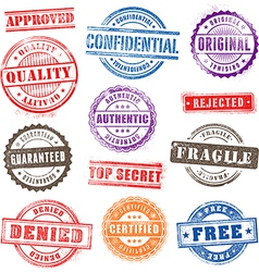 Grunge Commercial Stamps Set2 vector image