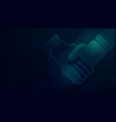 handshake of business partners background vector image