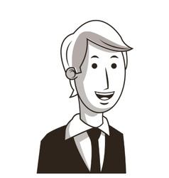 Happy businessman icon vector