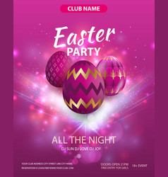 happy easter party flyer design party club vector image
