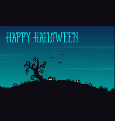 happy halloween background at night vector image