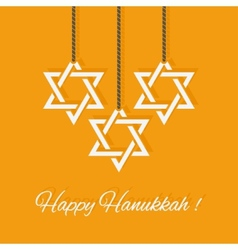 Happy Hanukkah card vector