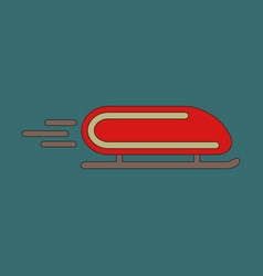 icon in flat design bobsled vector image