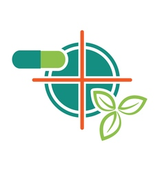 leaf pils target icon vector image