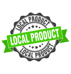 Local product stamp sign seal vector