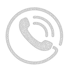 mesh phone call icon vector image