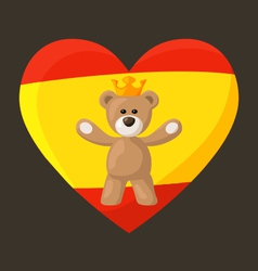 Mile 0017 spanish royal bear male vector