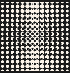 Monochrome halftone seamless pattern with circles vector