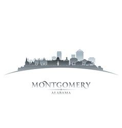 Montgomery Alabama city skyline silhouette vector