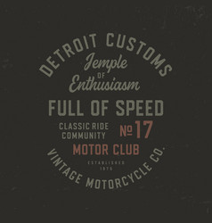 motorcycle theme t shirt design vector image