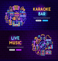 music website banners vector image