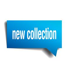 New collection blue 3d speech bubble vector