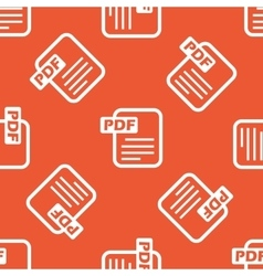 Orange PDF file pattern vector