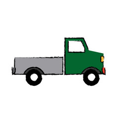Pickup truck delivery icon sign modern simple vector