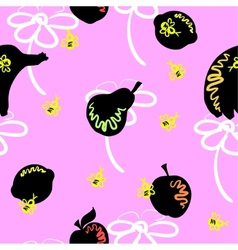 Pink Fruit Pattern vector image